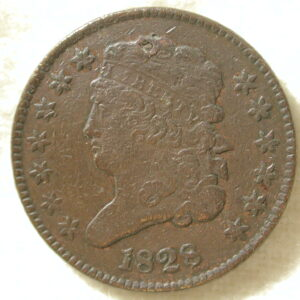 1828 U.S. Classic Head Half-Cent Type Extremely Fine (13 Stars)
