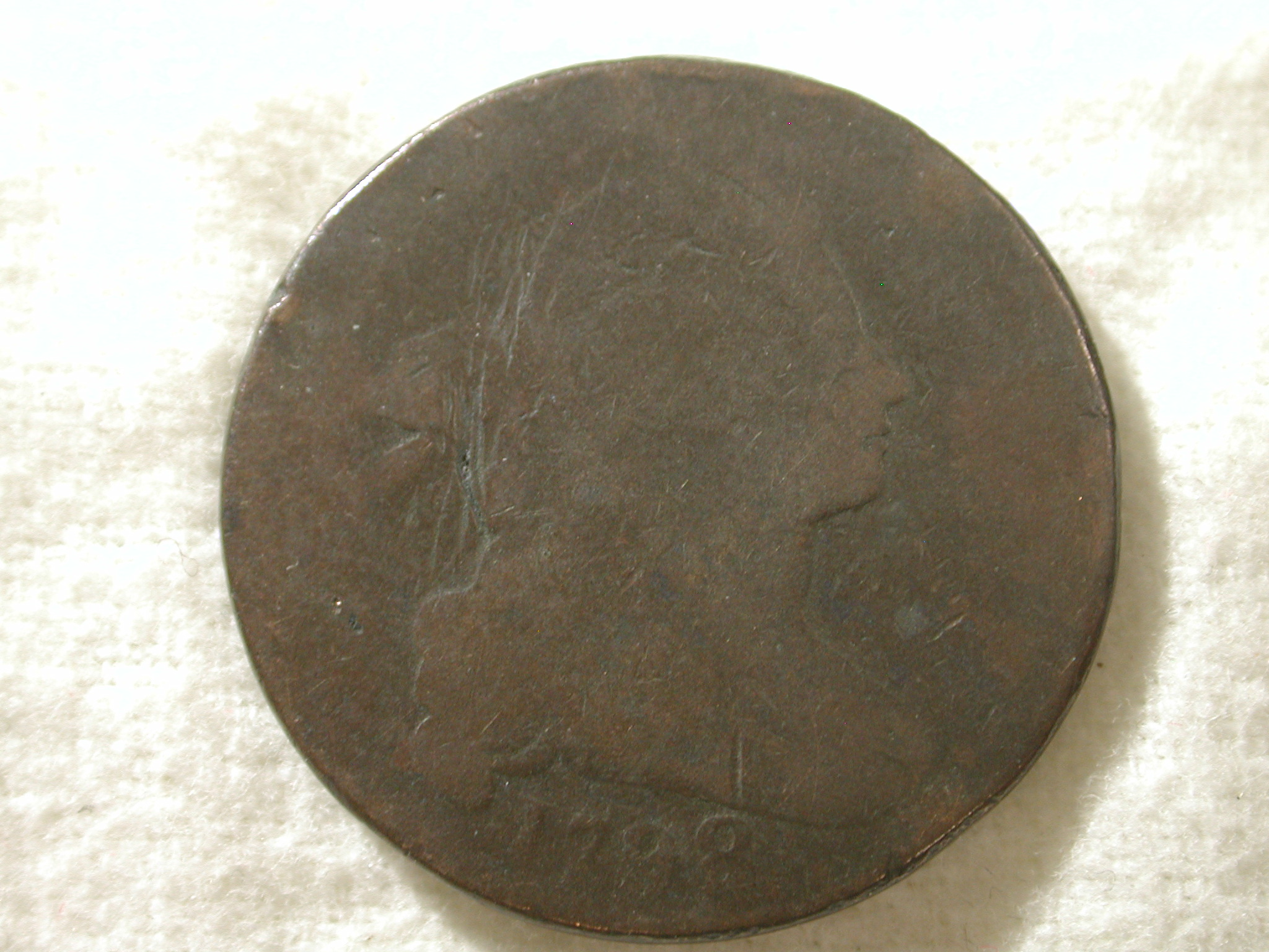 1798 U.S. Draped Bust Large Cent Type About Good