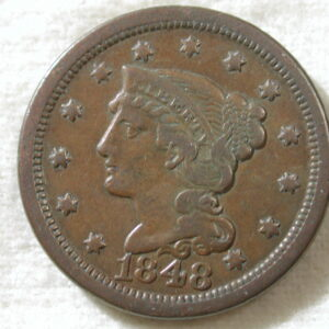 1848 U.S. Large Cent Type Braided Hair Fine