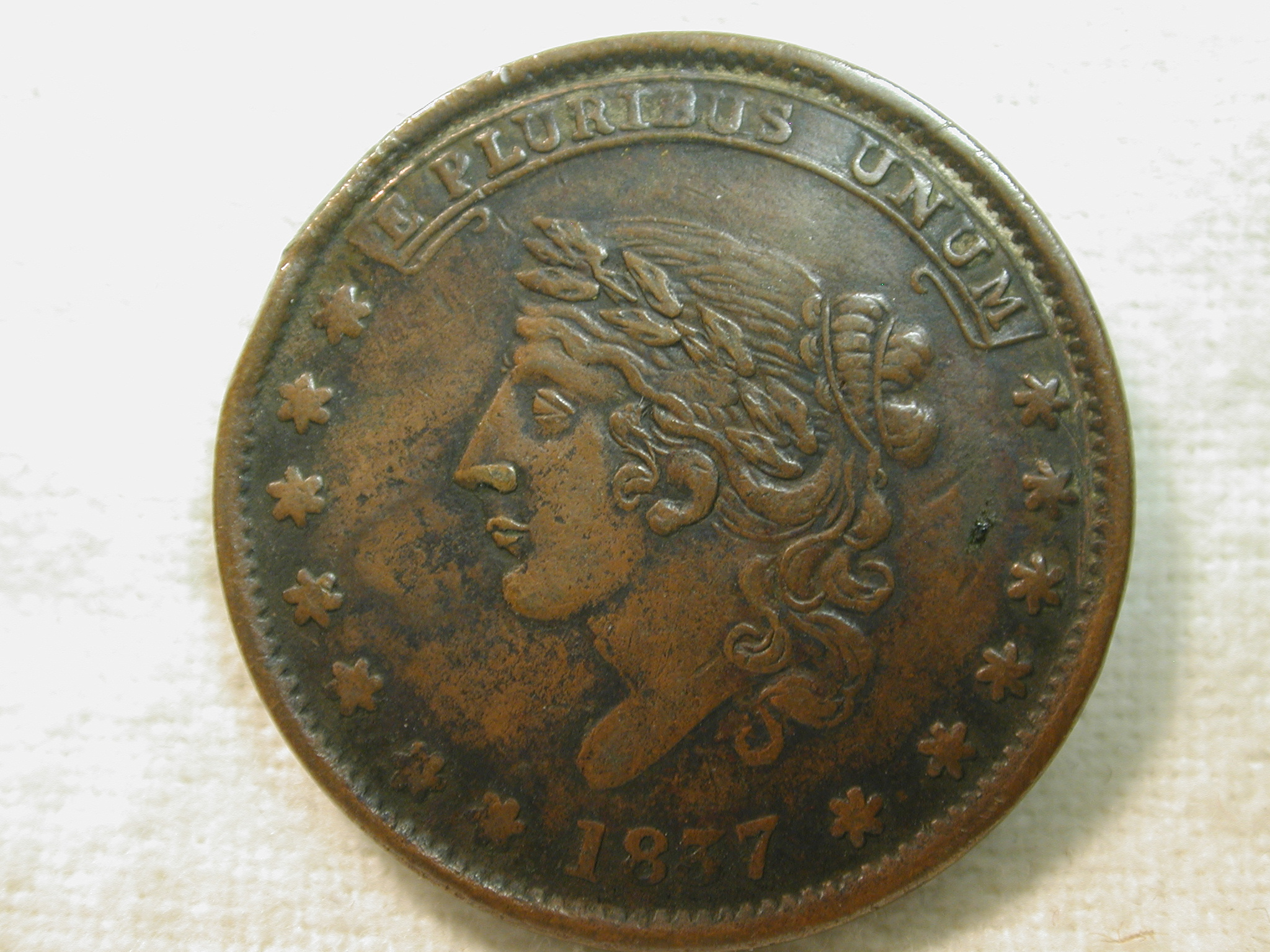 1837 Store Card Token Pre-Civil War Extremely Fine