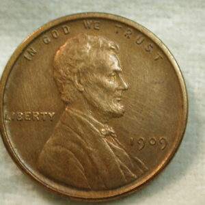 1909 VDB Lincoln Wheat Cent AU/UNC