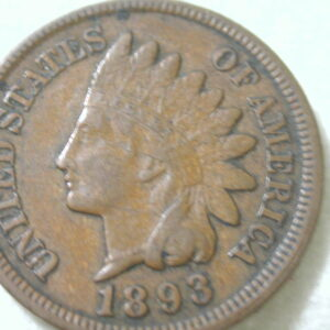 1893 U.S Indian Head Cent Type Extra Fine