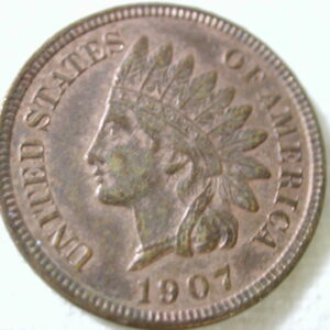 1907 U.S Indian Head Cent Type About Uncirculated