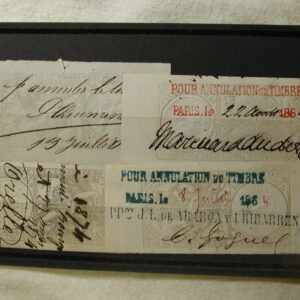 France Very Old Revenue Stamped Paper 1864 Cancelled