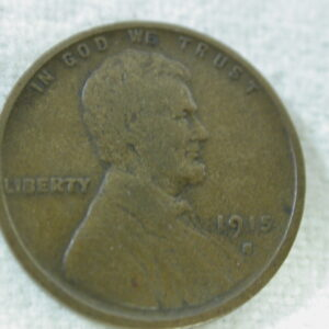 1915-S U.S Lincoln Wheat Cent Type Fine