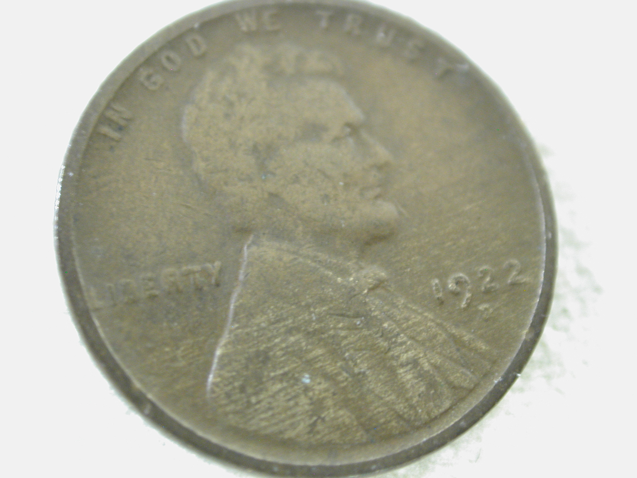 1922-D U.S Lincoln Wheat Cent Type Good