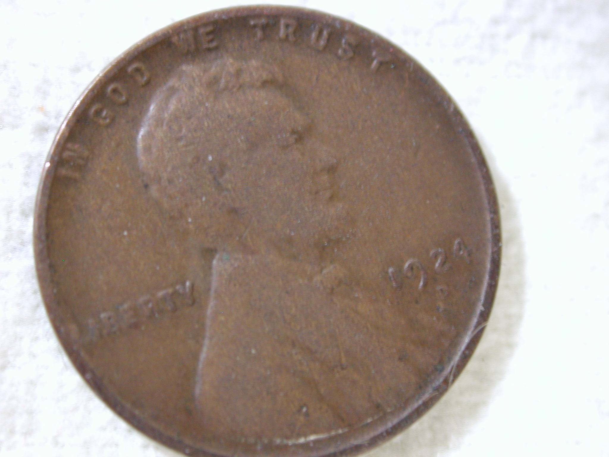 1924-D U.S Lincoln Wheat Cent Type Very Good