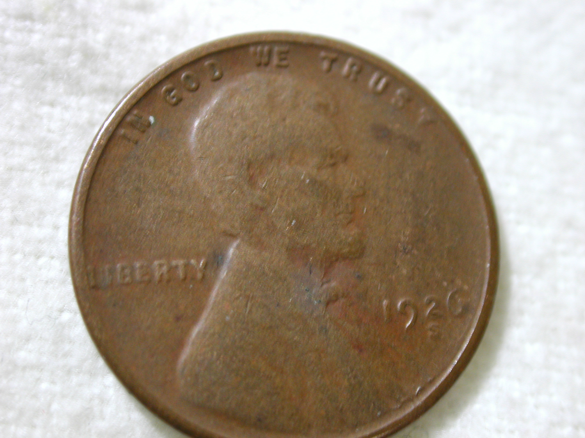 1926-S U.S Lincoln Wheat Cent Type Very Good