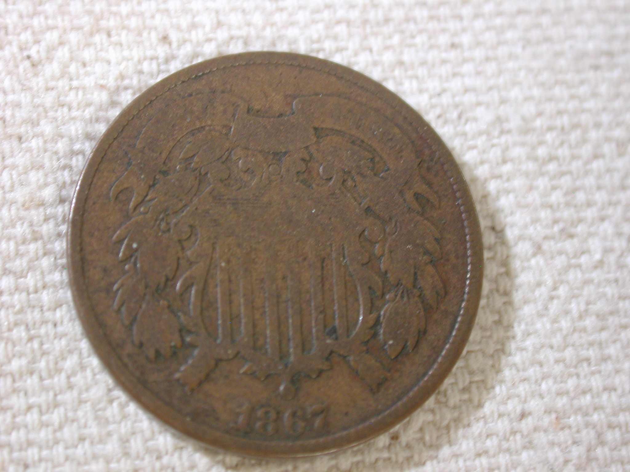 1867 U.S Two Cent Piece Very Good