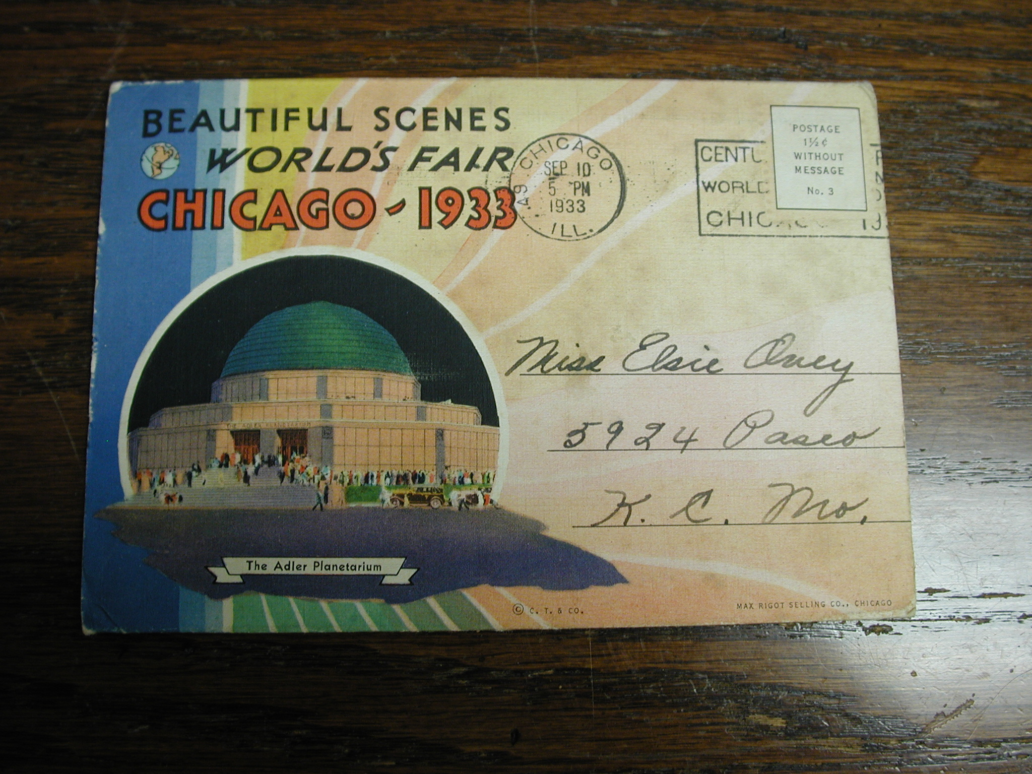 1933 World's Fair CHICAGO Beautiful Scenes Booklet Century of Progress Cancelled Chicago