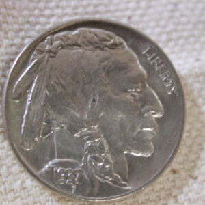 1937 U.S Five Cent Buffalo Nickel Uncirculated +