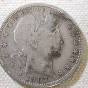 1907-D U.S Barber Half Dollar Type Very Fine