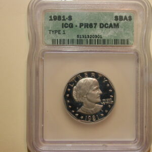 1981-S Susan B. Anthony Dollar ICG PRG 67 DCAM Type 1