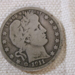 1911-D U.S Barber Quarter Good