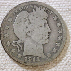 1913 U.S Barber Quarter Good