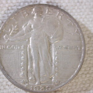 1929-D U.S Standing Liberty Quarter About Uncirculated
