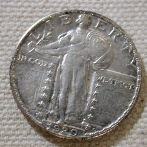 1929 U.S Standing Liberty Quarter About Uncirculated