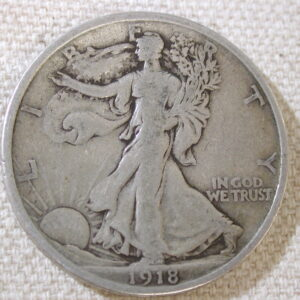1918-D U.S Walking Liberty Half Dollar Very Good
