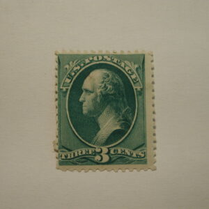 USA Stamp Scott #207, THREE CENTS, Blue Green