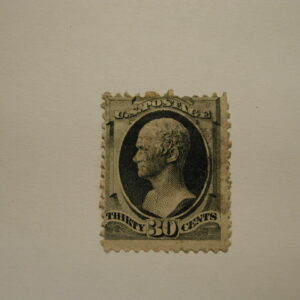 USA Stamp Scott #165, Used, 30 Cents, Gray Black, Light Cancel