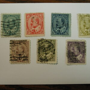 Canada #89-95 1 to 50¢ Complete Set Seven Stamps - Used Light Hinged