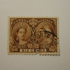 CANADA Stamp #55 - Queen Victoria Jubilee - Used (1897) Six Cent