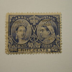Canada Scott #60 Fifty-Cent Jubilee Issue Used Light Hinged