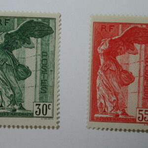 FRANCE #B66-7 - 1937 Winged Victory Semi-Postals 2 Stamp Set Mint/LH