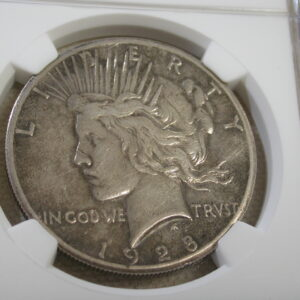 1928 Peace Dollar XF Details Improperly Cleaned NGC