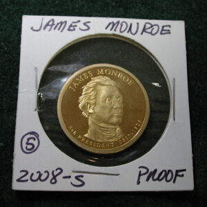 2008-S James Monroe One Dollar Proof