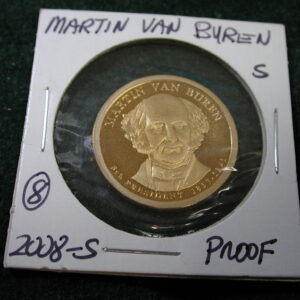 2008-S Martin Van Buren One dollar Proof
