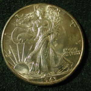 1943 U.S Liberty Walking Half Dollar Choice Uncirculated