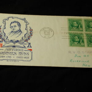 U.S Famous Americans Authors 1-10 cents FDC