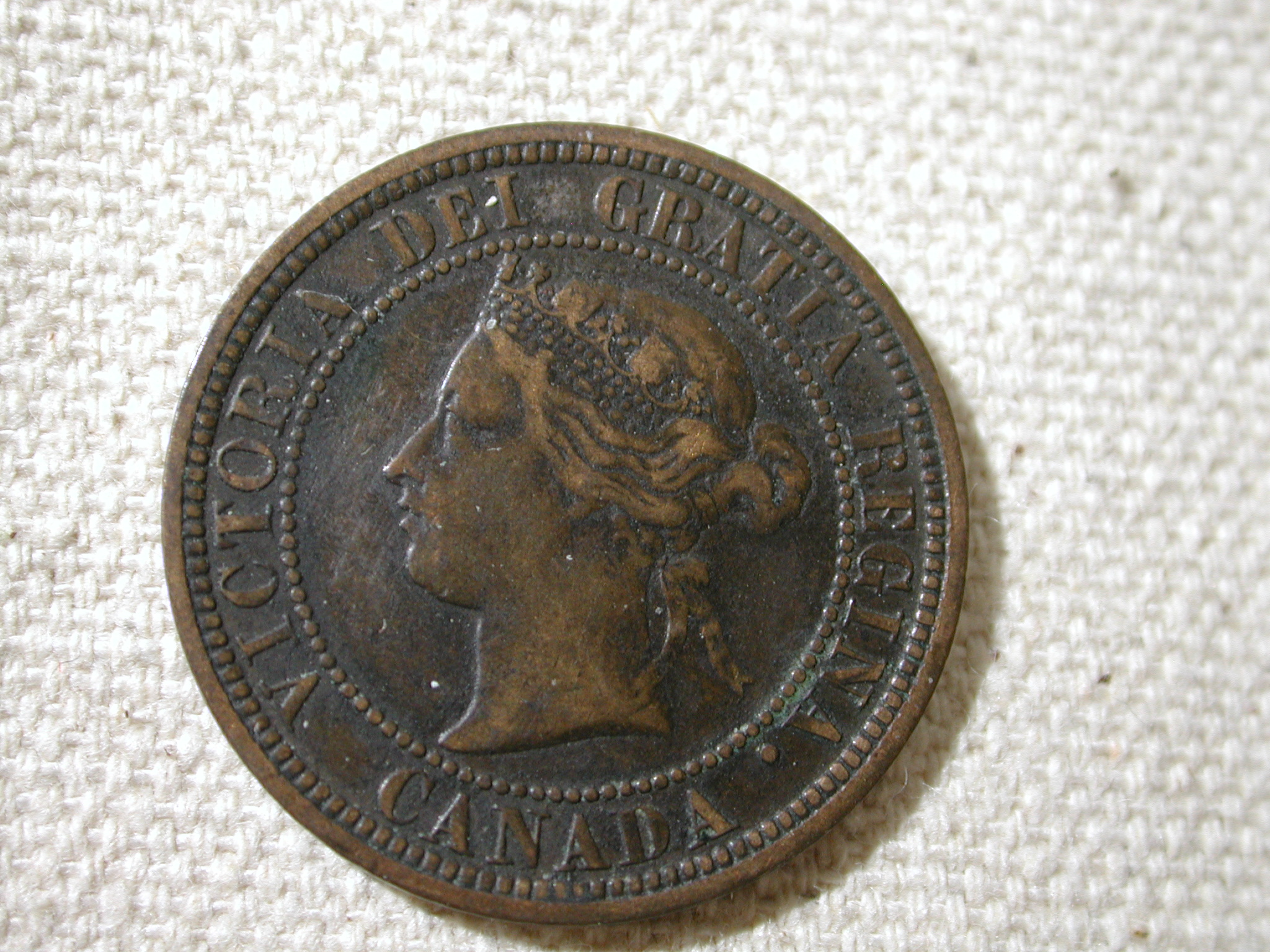 1881-H Canada Large cent Very Fine KM #2