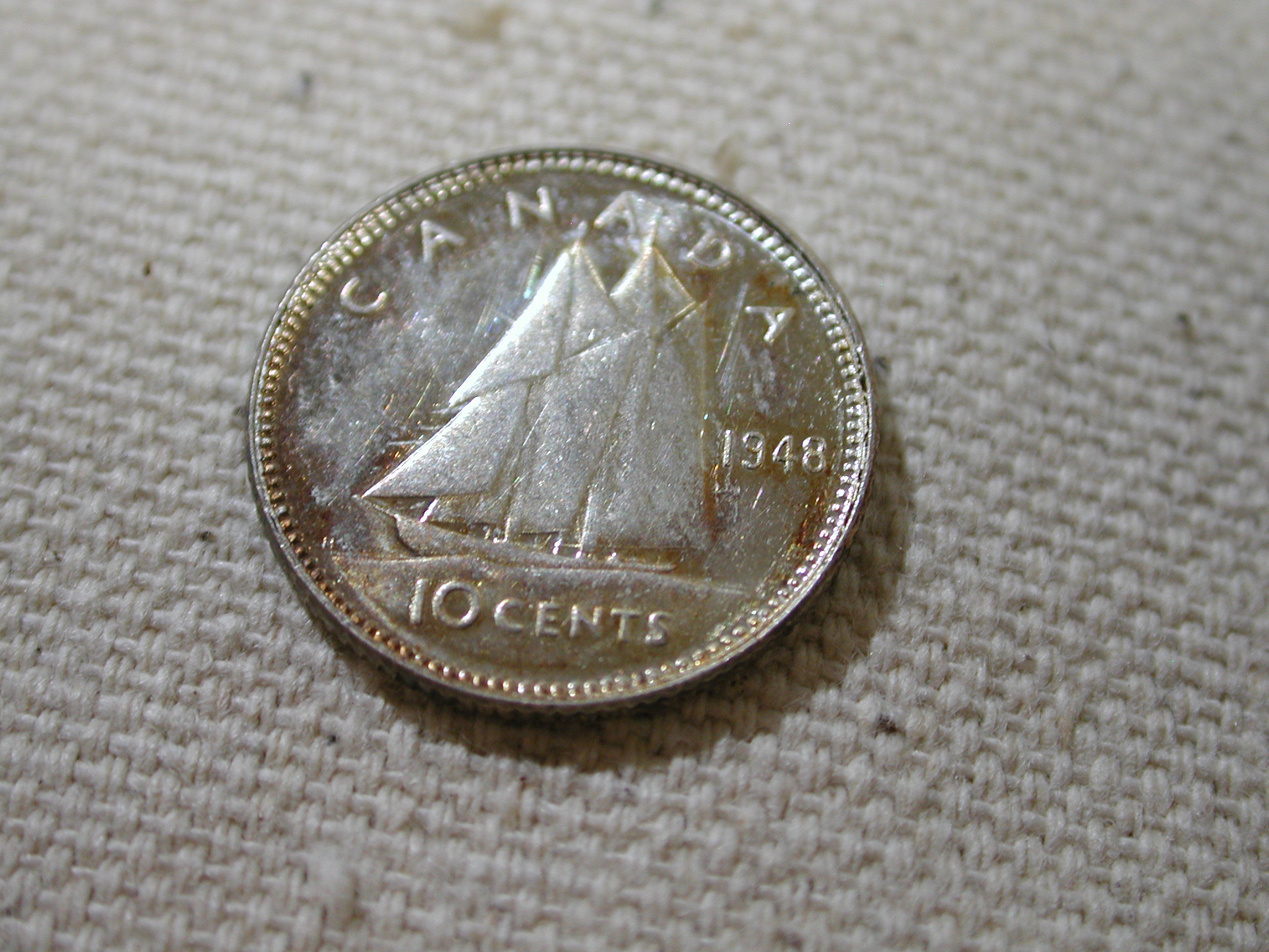 1984 CANADA 10 CENTS PROOF-LIKE DIME COIN