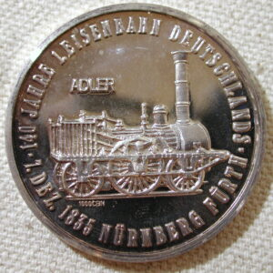 1975 Locomotive Nurnberg Anniversary 1825-1835 commemorative coin