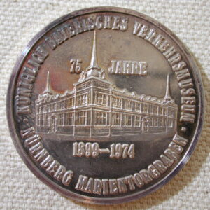 1975 Neves Verkehrs museum anniversary commemorative coin