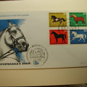 Germany 1969 F.D.C. CPL Horses Cover
