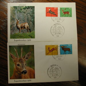 Germany 1965 F.D.C. CPL Deer set of Two Covers