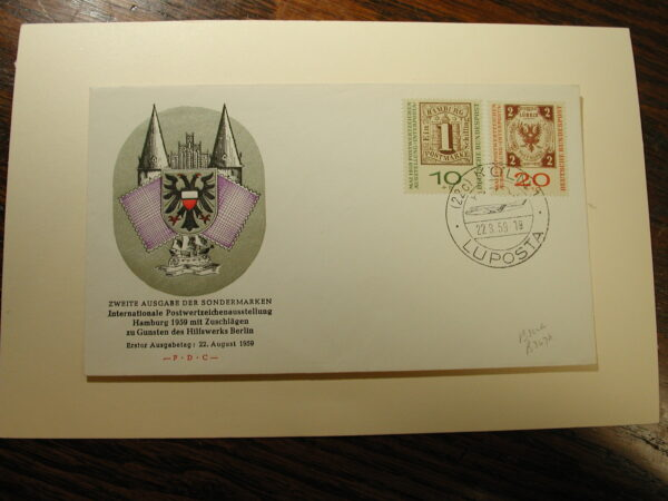 Germany August 22, 1959 F.D.C. CPL Cover