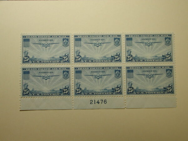 US Scott #C20 - 25c China Clipper Over the Pacific Transpacific Issues #21473 - VLH