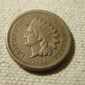 1860 U.S Indian Head Cent (Rounded Bust)(Rim Nick Rev) Extra Fine