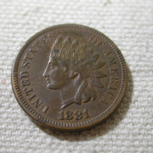 1881 U.S Indian Head Cent About Uncirculated