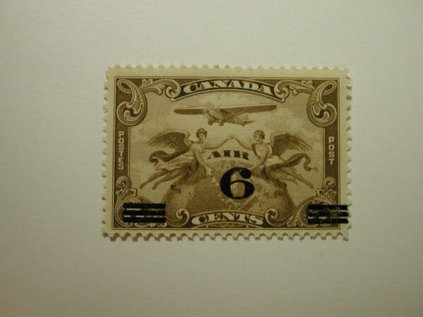 Canada Stamp Air Mail - 6 Cents - Scott #C3 Unused Never Hinged