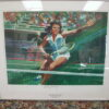 Billie Jean King signed Bob Peak limited edition lithograph