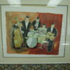 Tony Agostini signed Artists Proof Jazz Quintet lithograph
