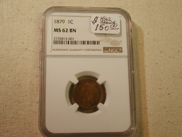 1879 1C MS62 Brown NGC