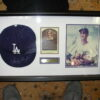 Sandy Koufax Signed Hat/Photo Shadow Framed PSA COA