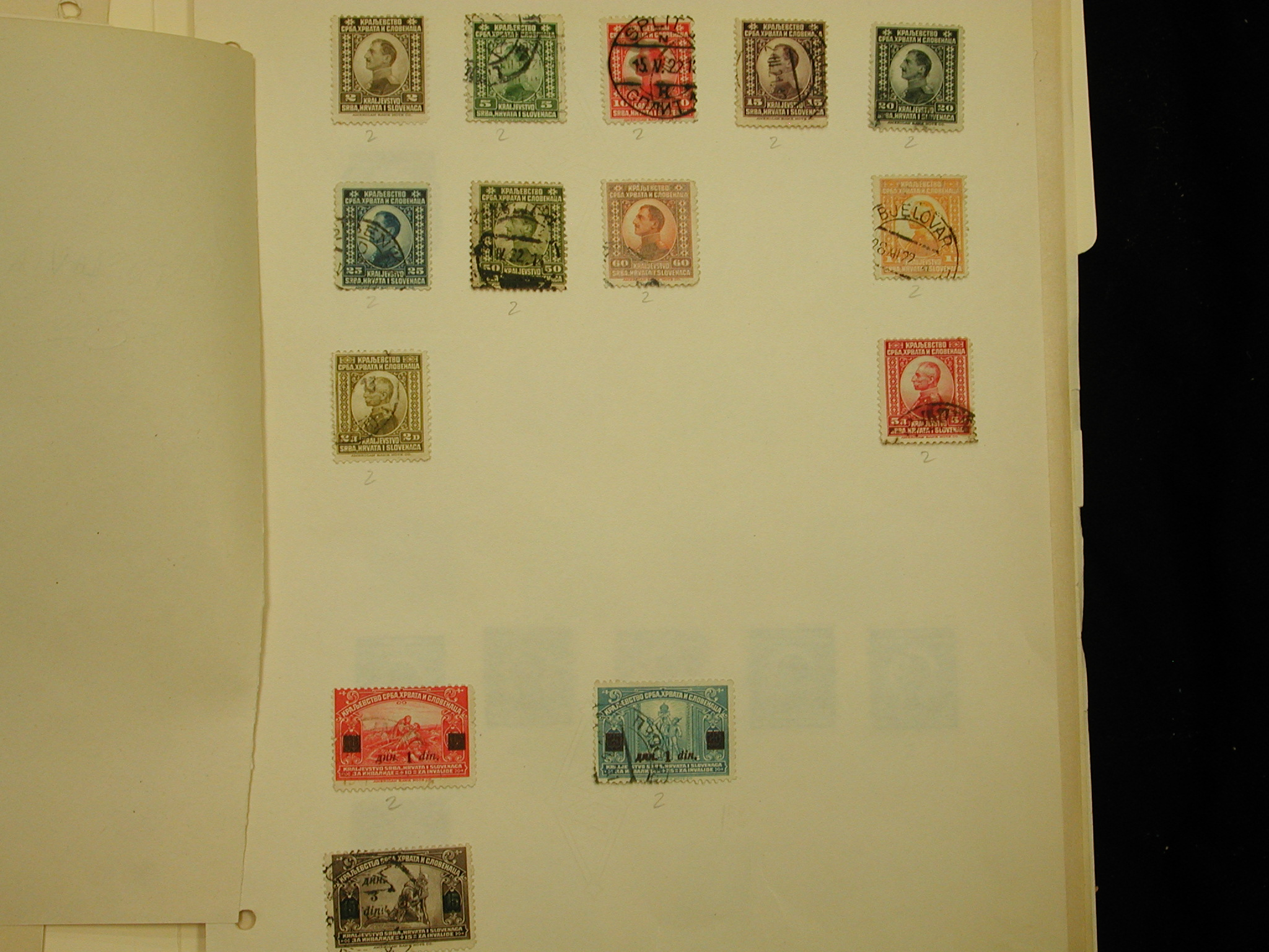 Yugoslavia collection of 39 used postmarked1920s-1940