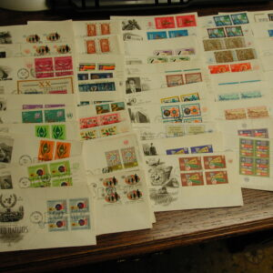 United Nations First Day Covers 1965-1970 All MI Blocks